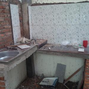 Renovasi rumah subsidi area dapur